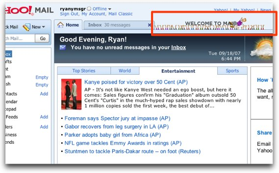 Yahoo Mail Showing Funny Liam Animations