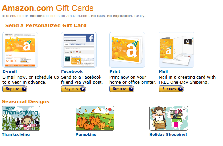 You can now send amazon gift cards via facebook amazon gift cards can now be sent via facebook m4hsunfo