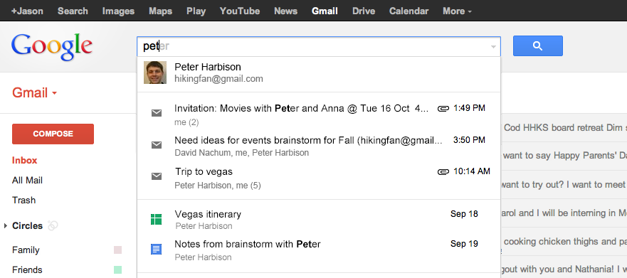 You Can Search In Google Drive Gmail And Calendar Via The Google