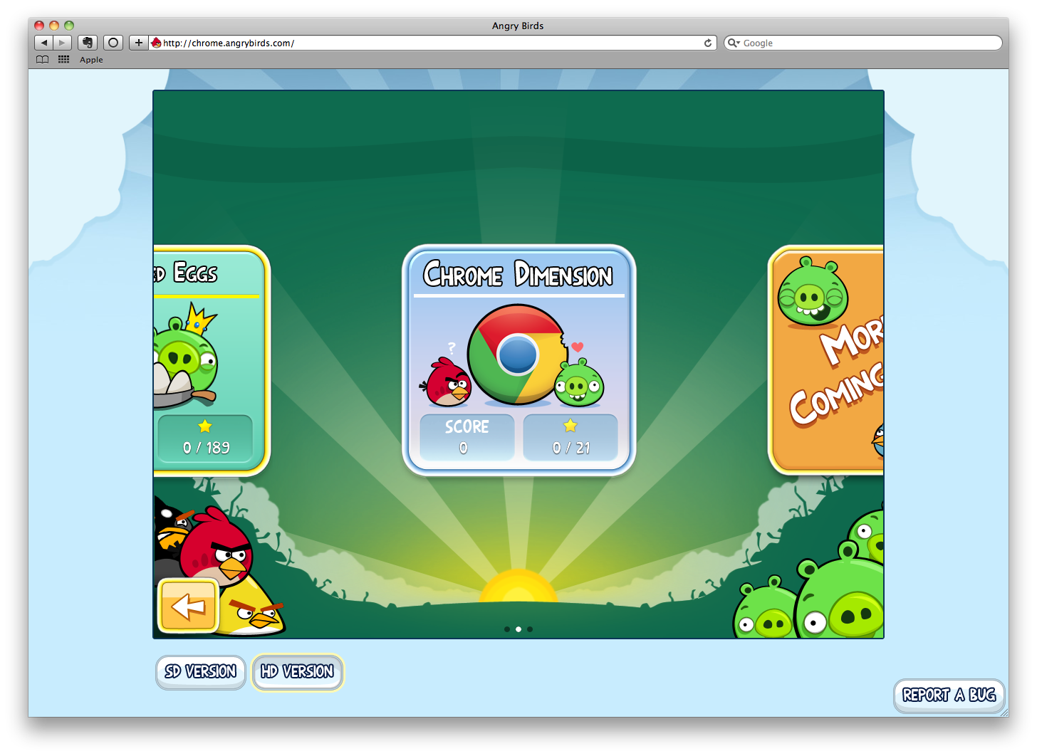 You Don't Need Chrome to Play Angry Birds for Free