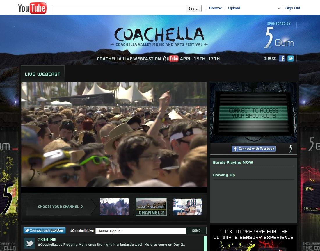 YouTube to Live Stream Bonnaroo, Lollapalooza, and Austin