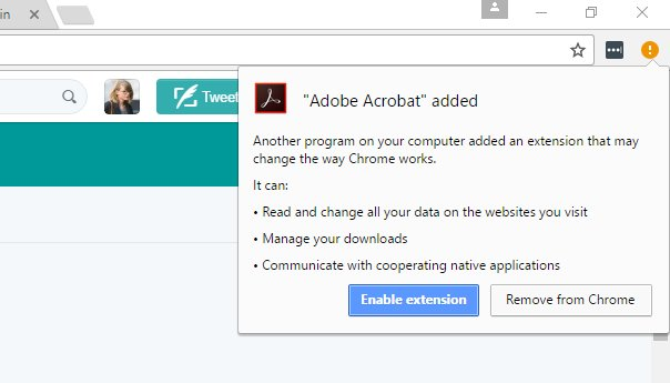 Adobe Sneaks a Google Chrome Extension in Latest Security Update to
