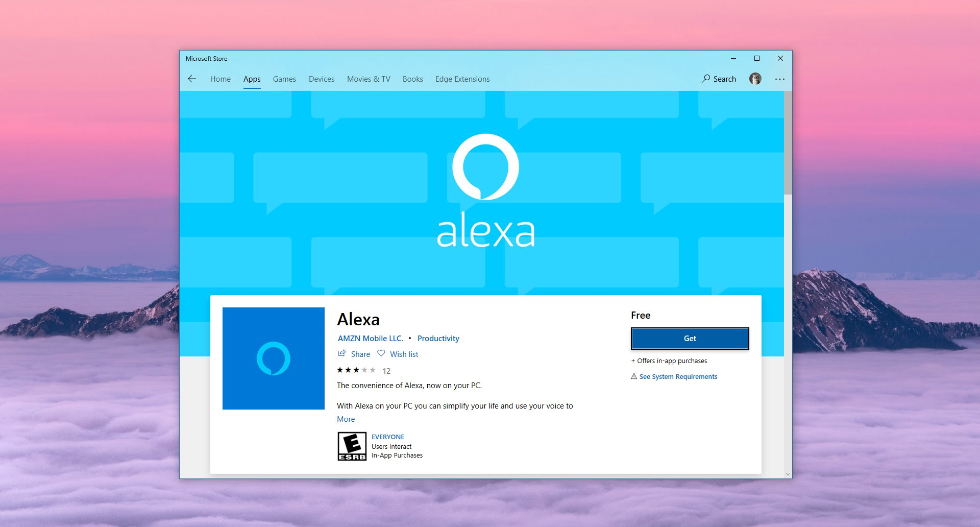 Alexa App for Windows 10 Now Available for Download
