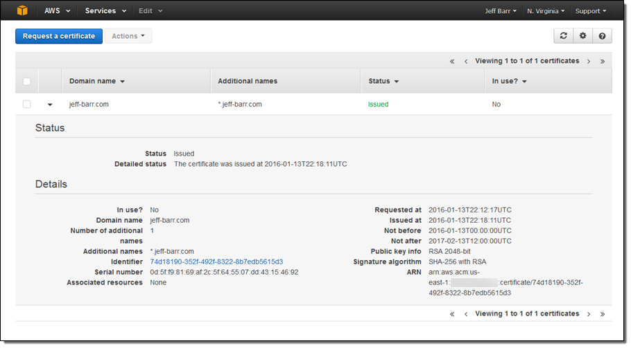 Amazon to Provide Free SSL/TLS Certificates to Its AWS Customers