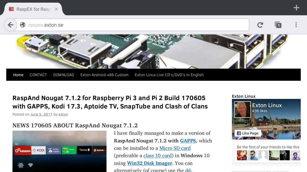 Android-Based RaspAnd Linux OS for Raspberry Pi 3 Gets