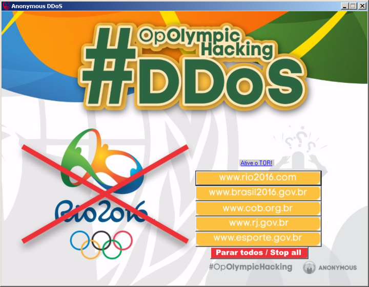 Anonymous Created Special DDoS Tool Just for the #OpOlympicHacking