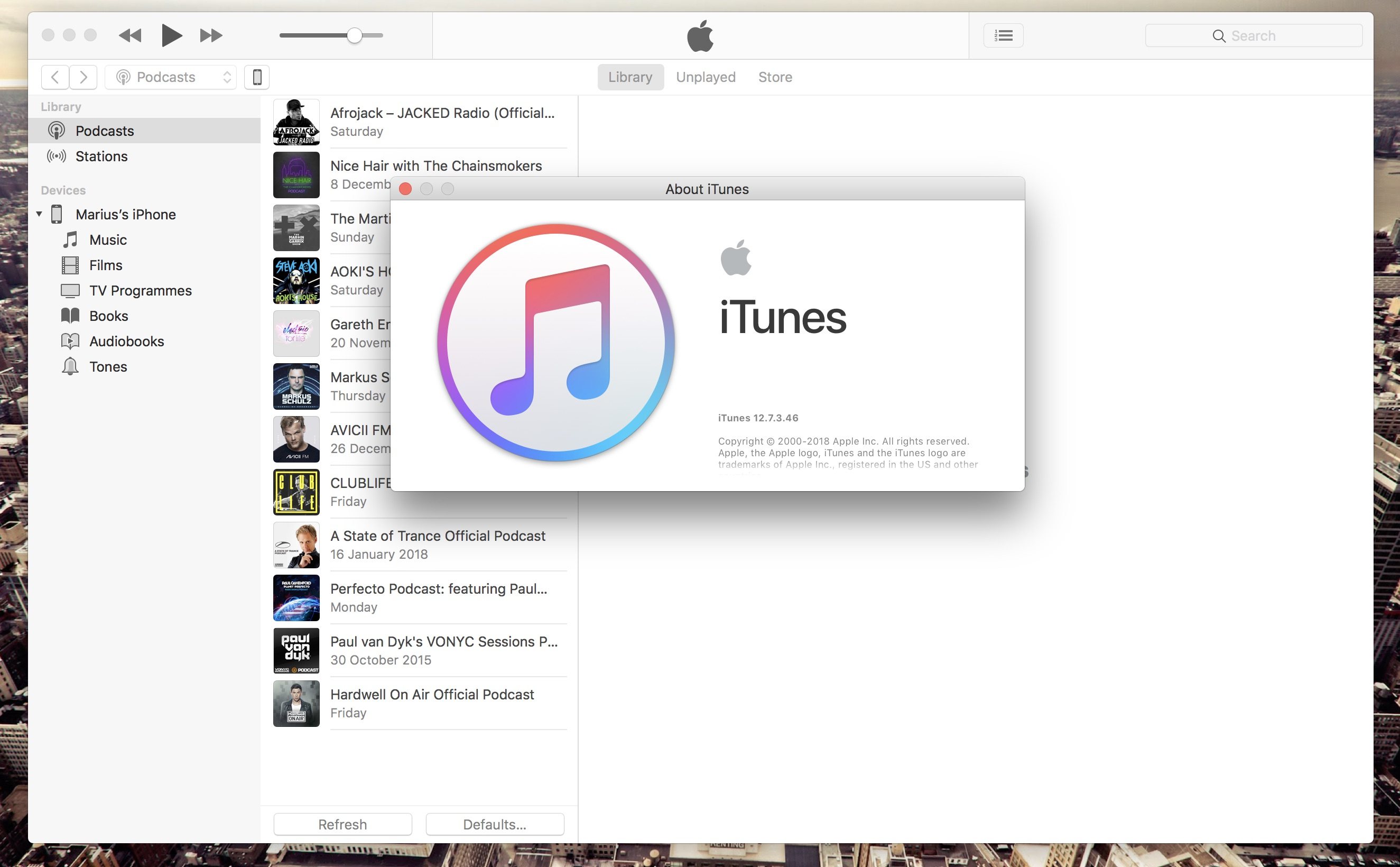 itunes 12.7.3 pour windows