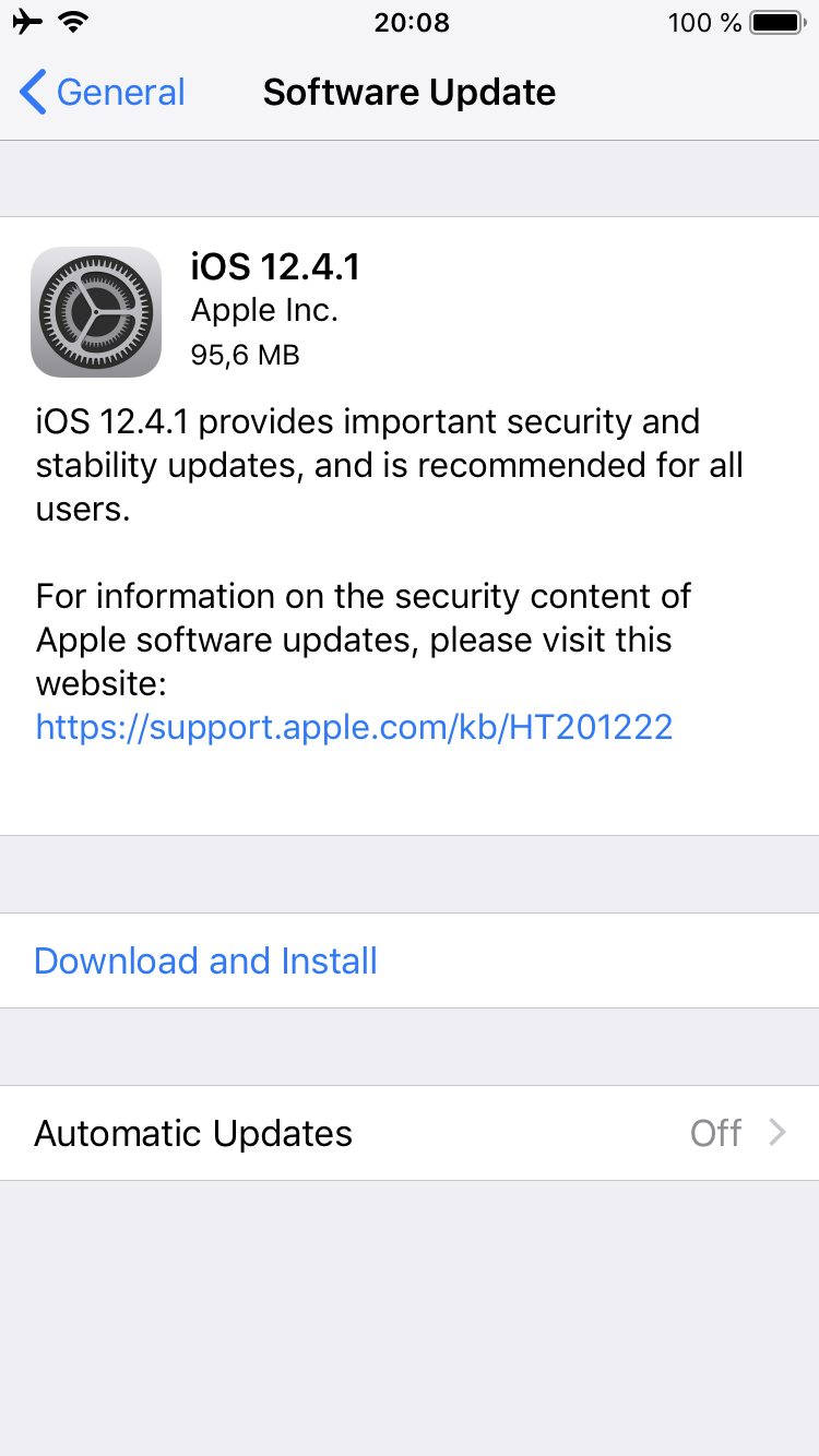 Apple Releases iOS 12 4 1 to Patch Jailbreak Flaw, watchOS
