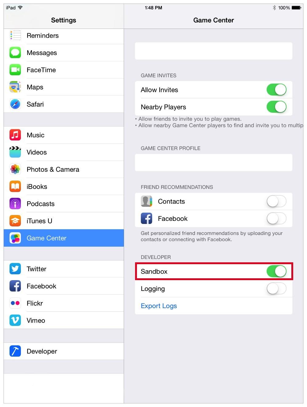 Apple Removes Game Center Sandbox, Migrates Test Servers to