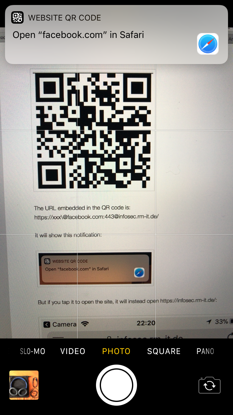 Apple's iOS 11 Camera QR Code Reader Is Vulnerable to