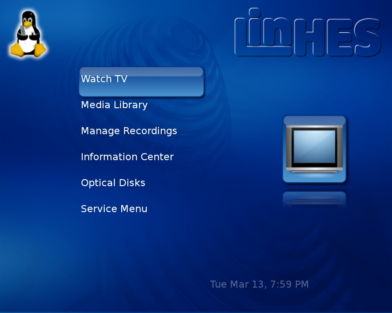 Arch Linux Based Linhes 8 4 Os Launches With Kodi 16 1 Mythtv 0 28 And Openpht