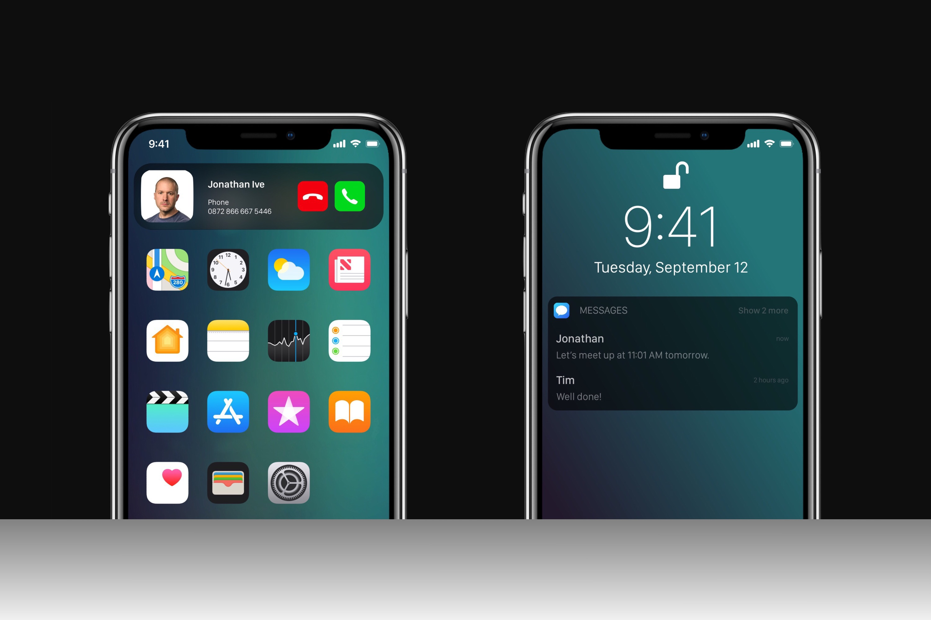 Astonishing Ios 12 Concept Envisions Dark Mode A Quot Sound