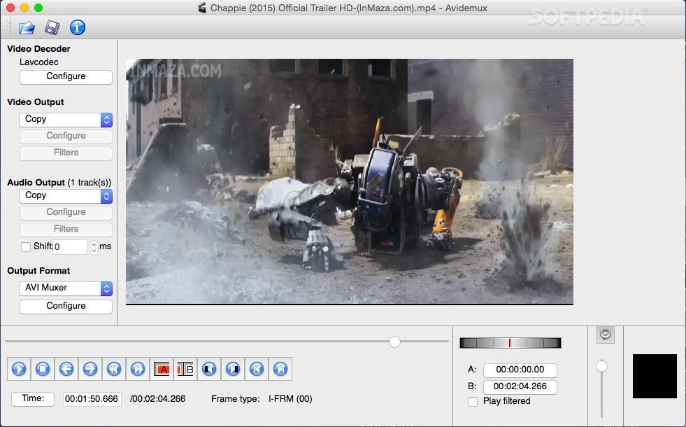 Avidemux 2.6.14 Open-Source Video Editor Supports Lagarith Lossless Video Codec