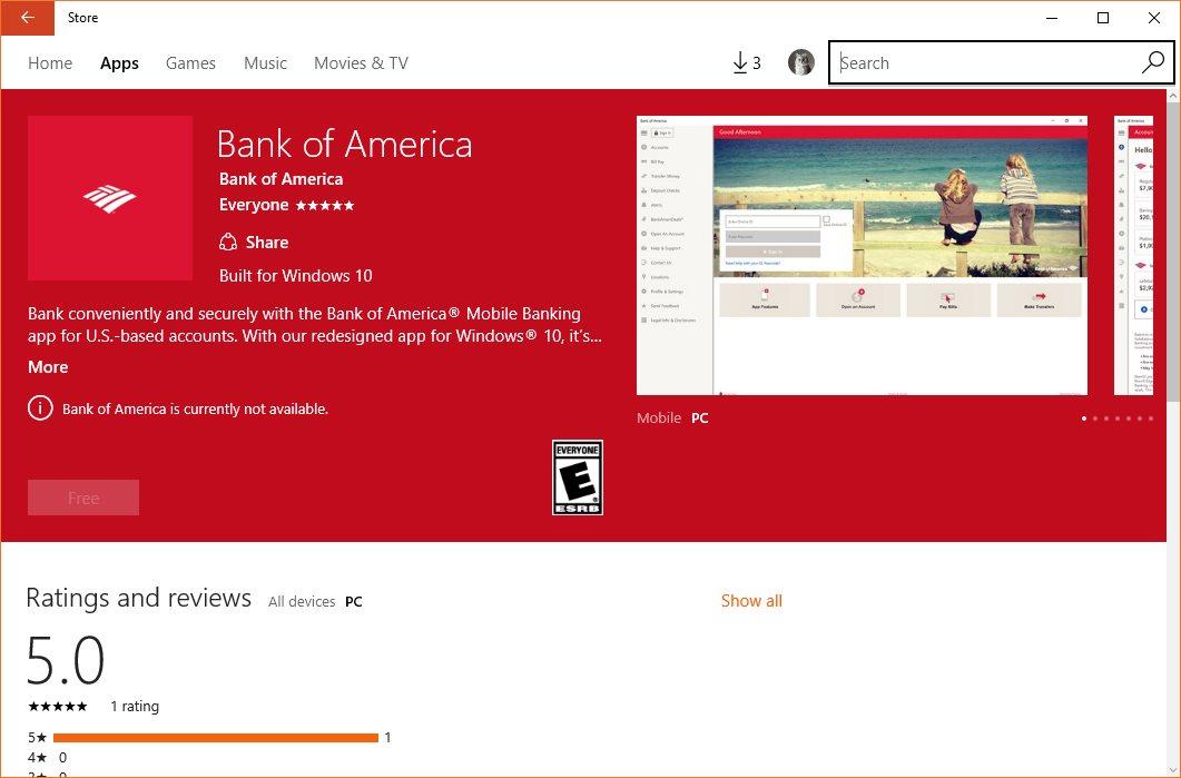Bank Of America On Windows 10