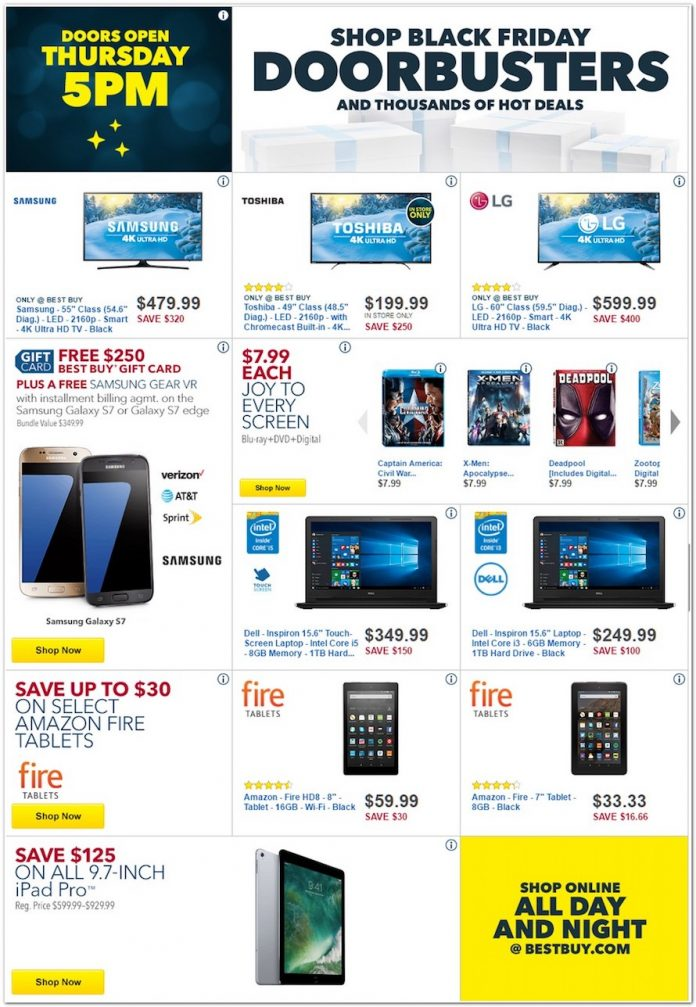 Best Buy Black Friday 2016 Deals Include Discounts On Galaxy S7 S7 Edge More