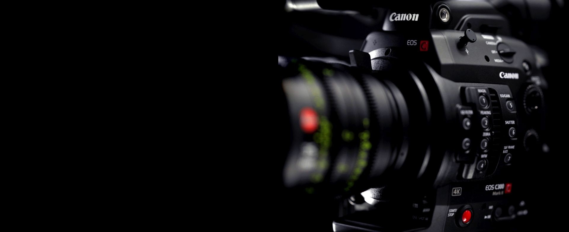 Canon EOS C100 DAF, C300 DAF, and C300 Mark II (PL) Cameras