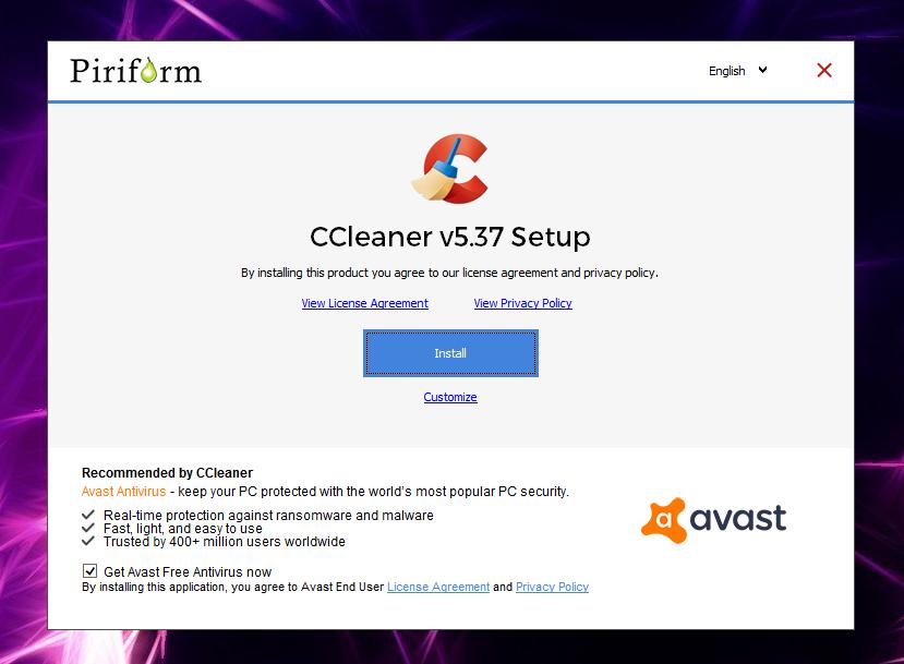 avast cleanup et ccleaner