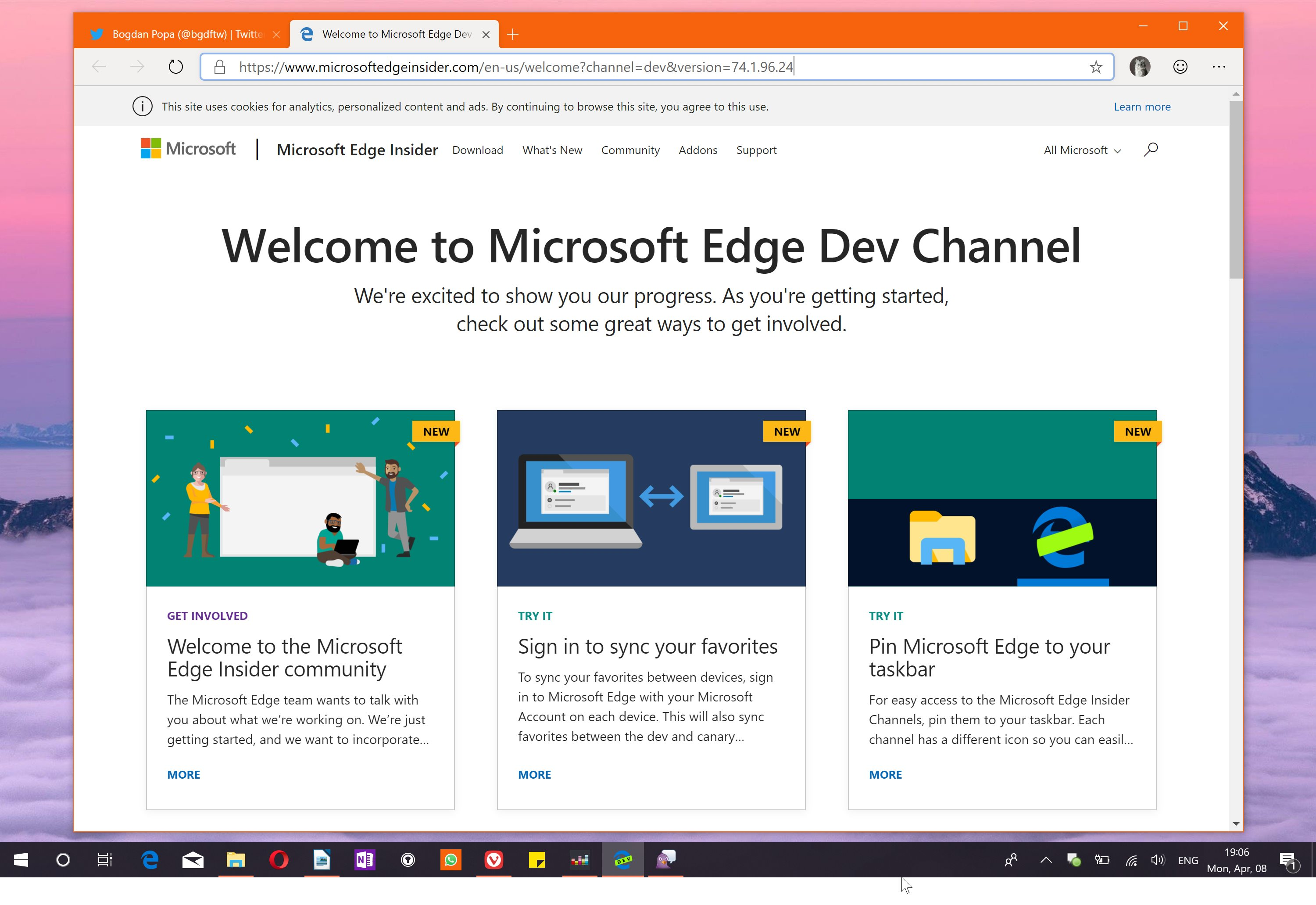 Chromium-Based Microsoft Edge Browser Now Available for