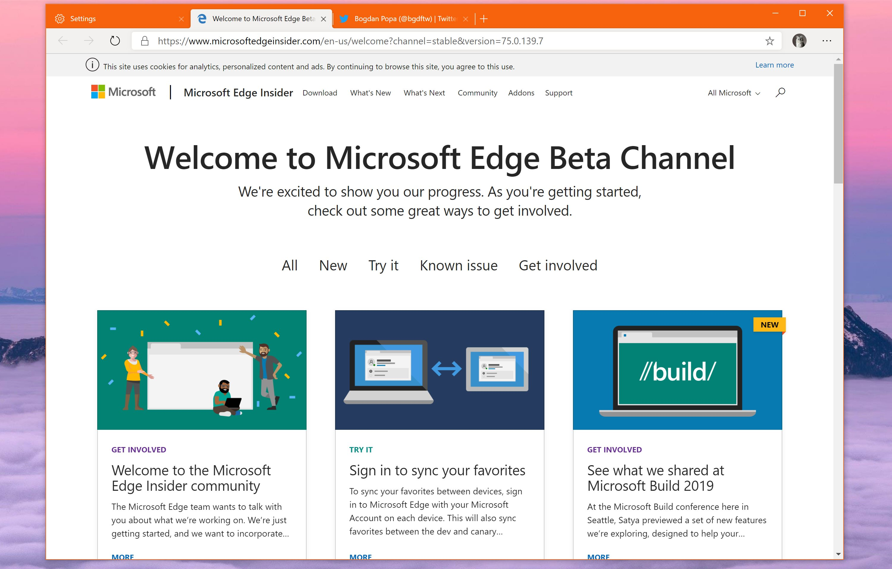 microsoft edge browser latest version download