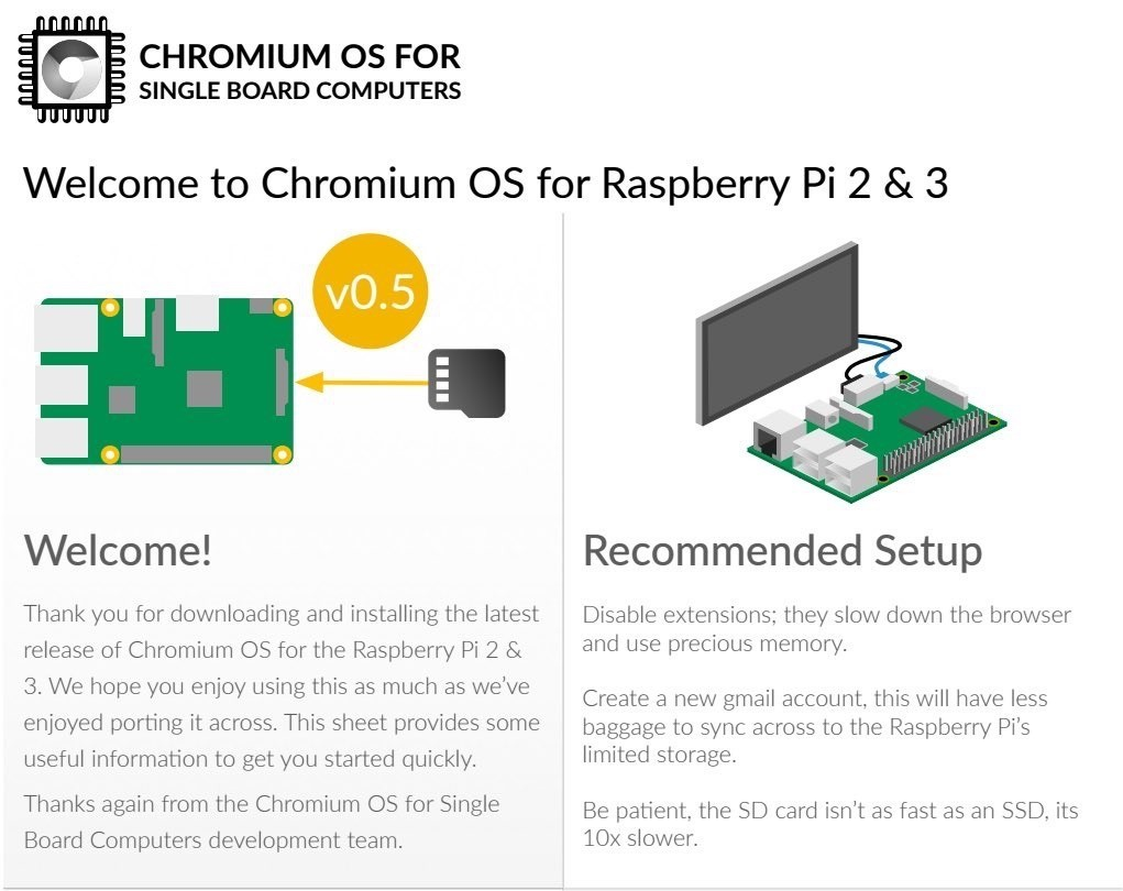 Chromium OS for Raspberry Pi SBCs Is Making a Comeback Soon