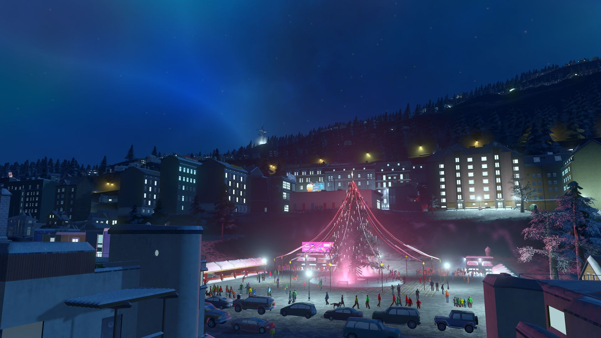 cities skylines snowfall christmas cheer