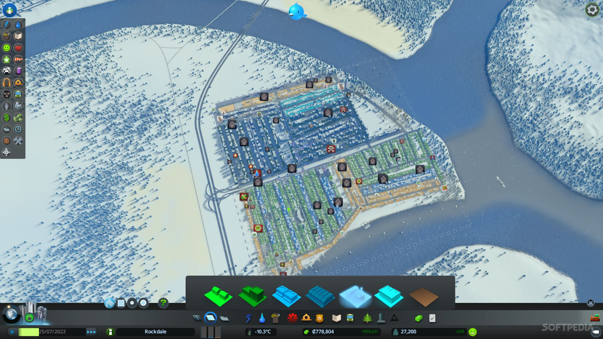 Cities skylines snowfall review pc cities skylines snowfall aerial view gumiabroncs Gallery