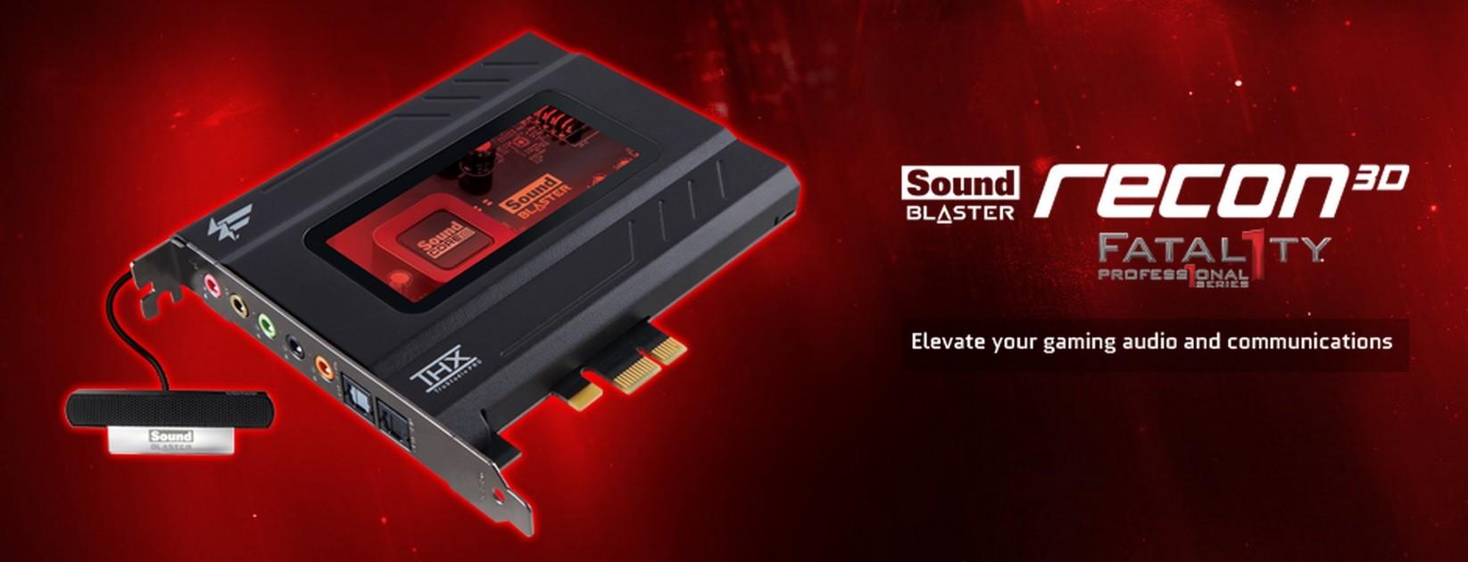 Creative Sound Blaster Recon3D PCIe Fatal1ty Champion Audio Driver Download