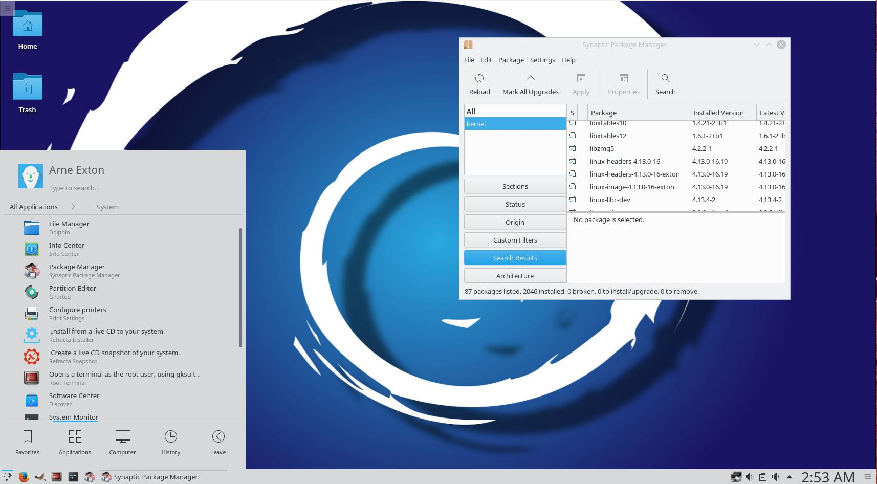 Debex Kde Plasma Is A Pure Debian Gnu Linux 10 Buster Distro With Linux 4 13