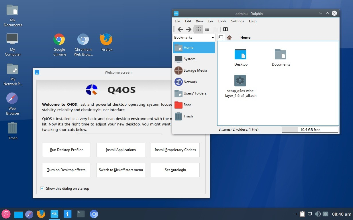 Debian Based Q4os Linux Distro To Get A New Look With Debonaire Desktop Theme