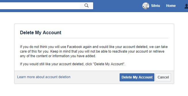 Deletefacebook how to completely block facebook all over the internet deleting an account on facebook ccuart Choice Image