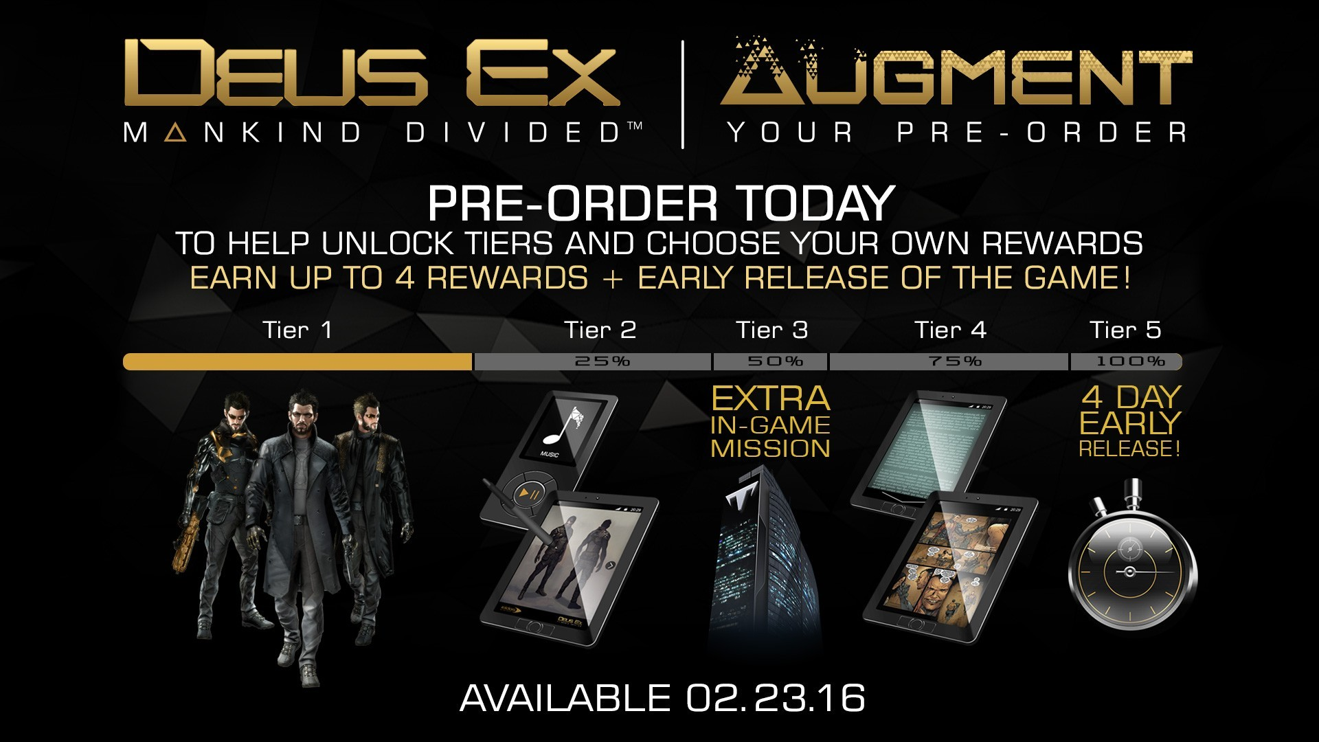 Mankind Divided's preorder system, something you'd see on the PS5