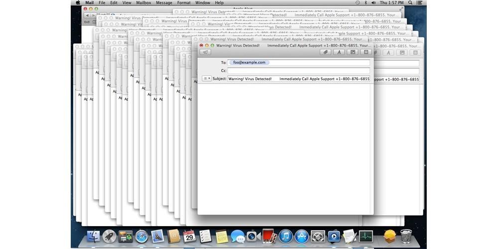 DoS Attack Can Crash a Mac Using Malware Spreading via Email