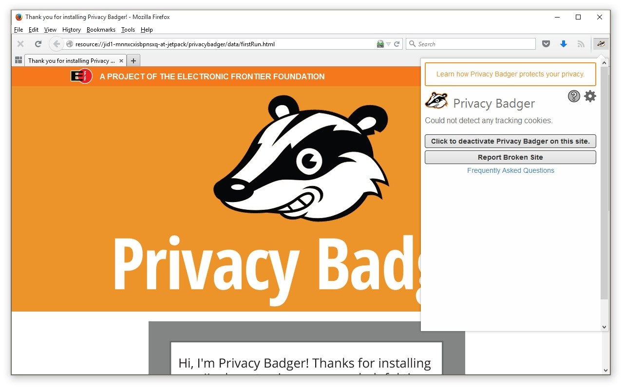 EFF Officially Launches Privacy Badger Browser Extension for