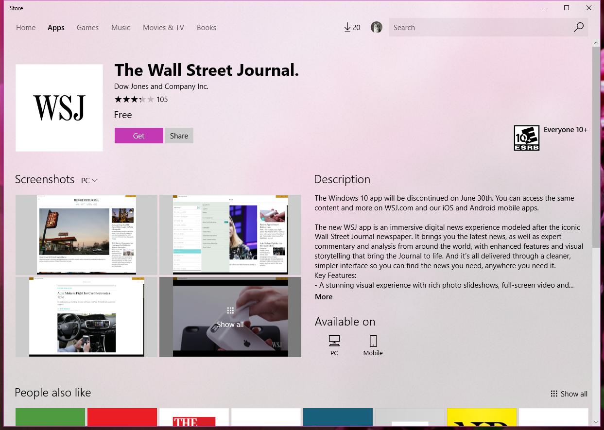 Et Tu, Brute? The Wall Street Journal Kills Its Windows 10 Mobile