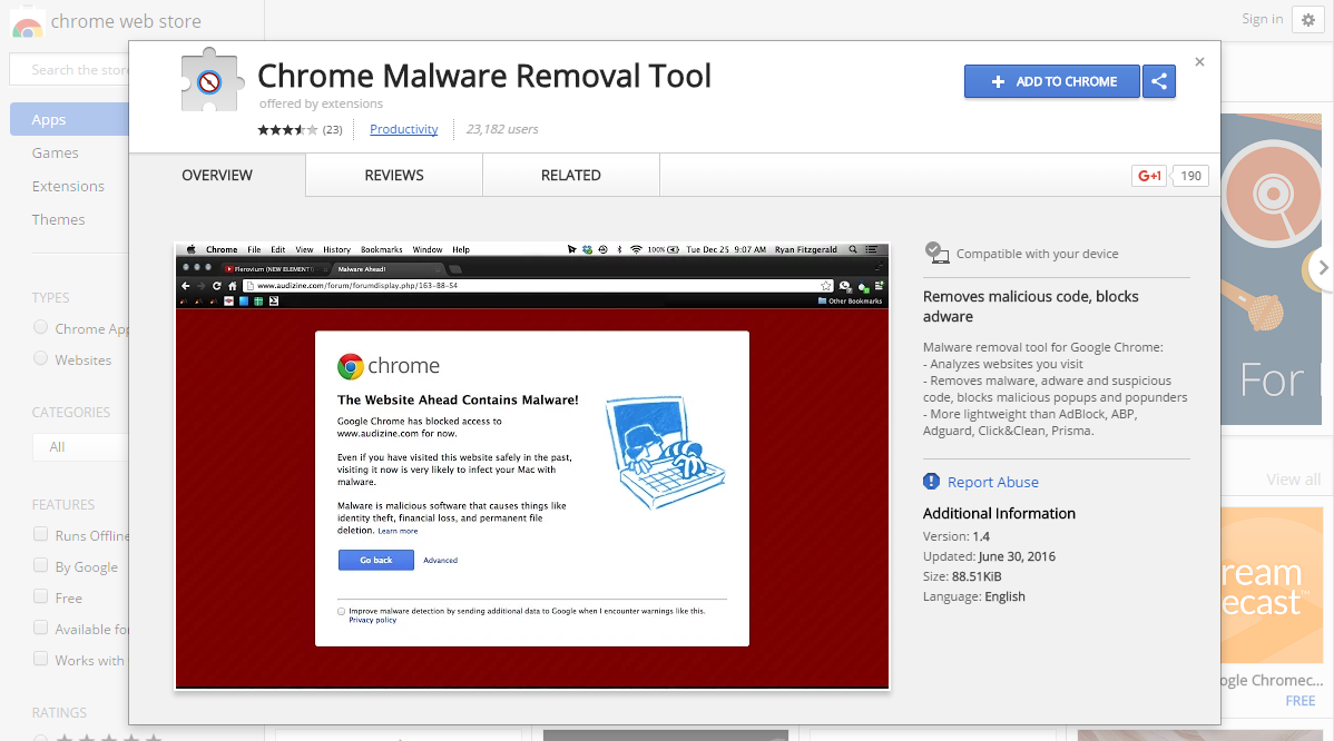 EU Cookie Law Popup Pushes Dodgy Chrome Extension Down Your