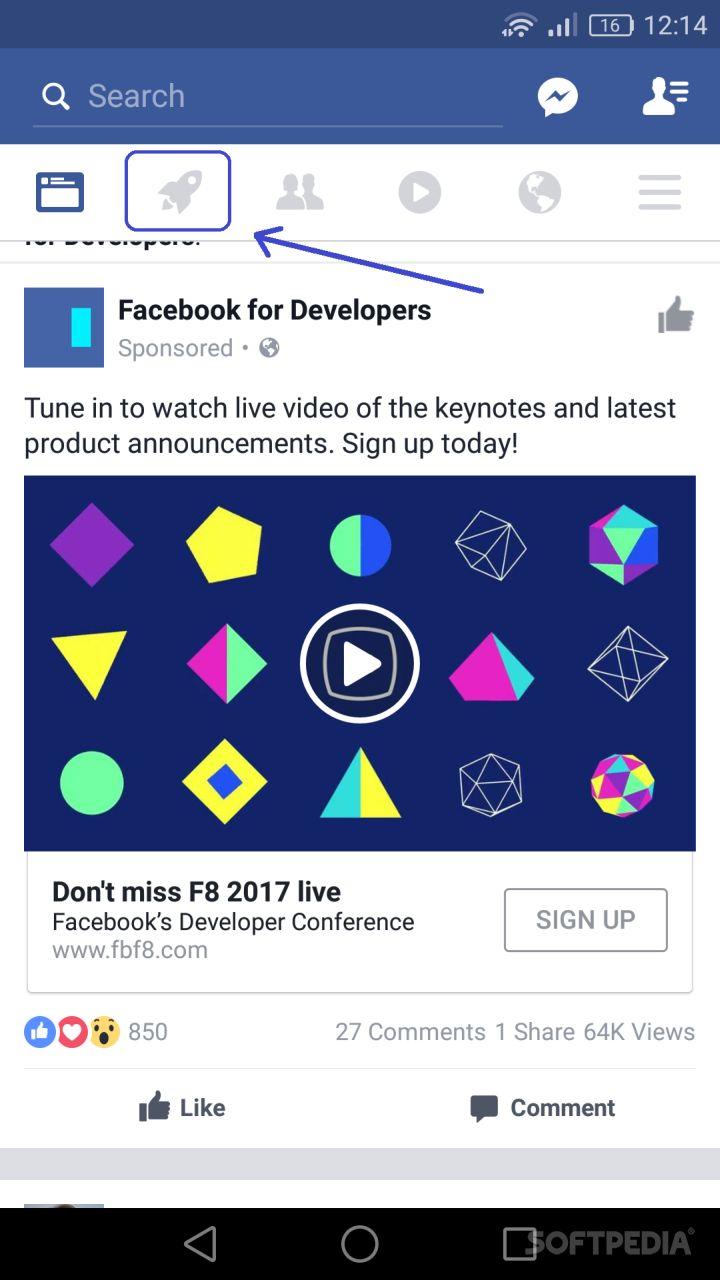 Facebook Tests New Start Exploring