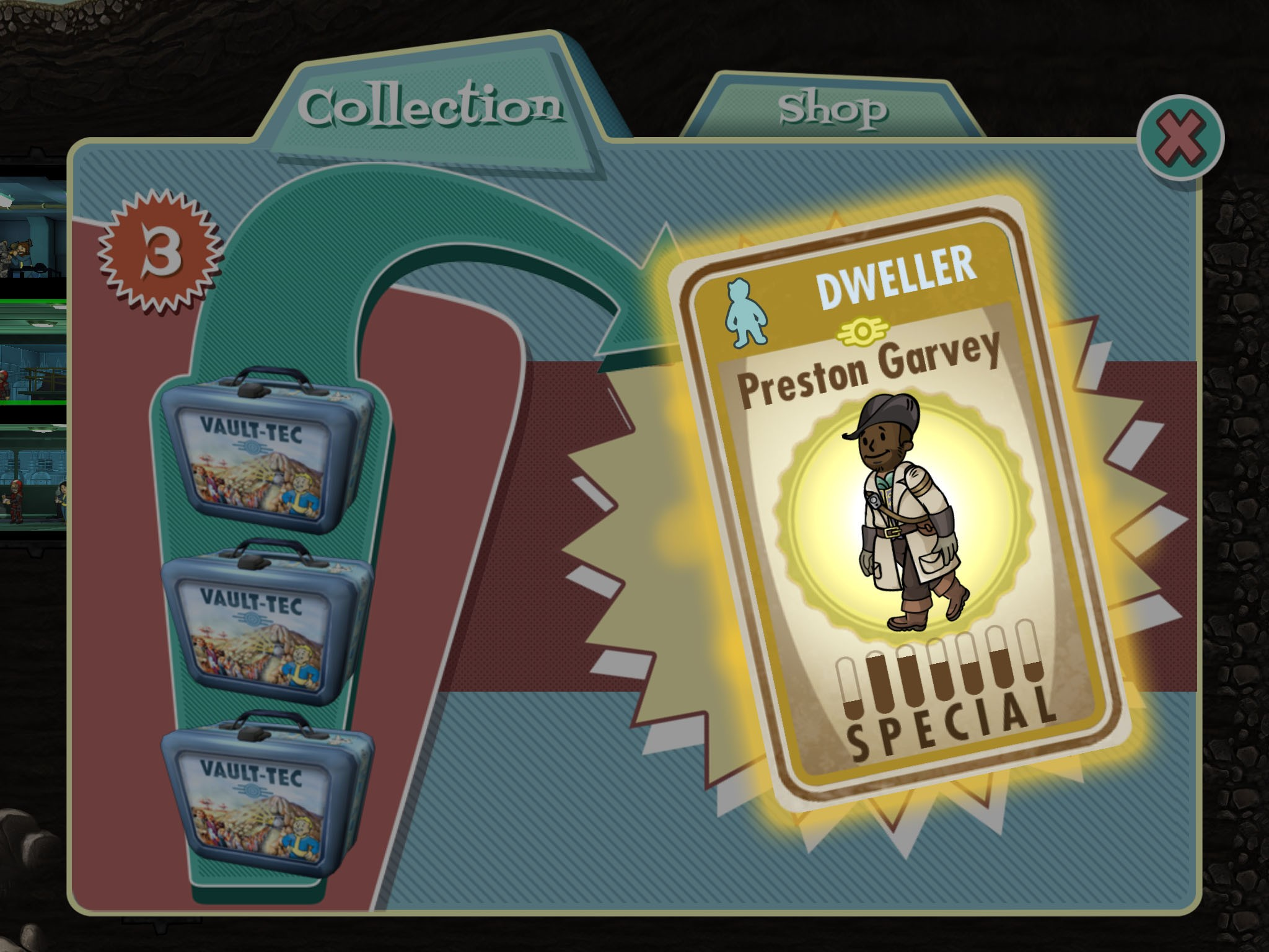 fallout shelter update brings first unlockable fallout 4 character