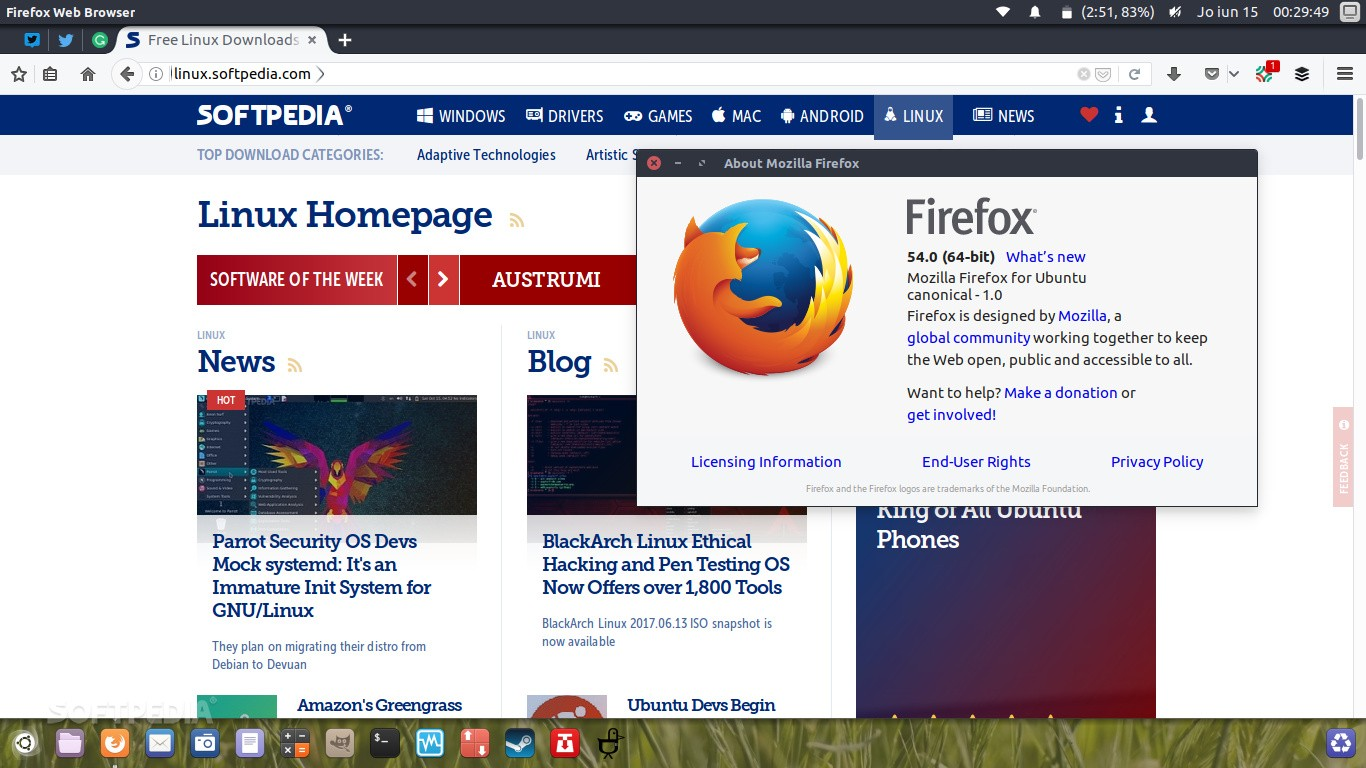 Firefox 54 Web Browser Lands in All Supported Ubuntu Linux Releases