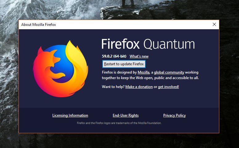Firefox 59 0 3 Released with Windows 10 April 2018 Update Improvements