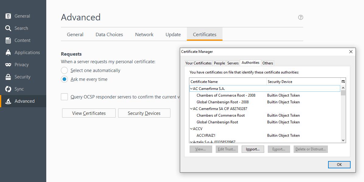 Firefox Changes Root Certificate Handling Procedures on Windows