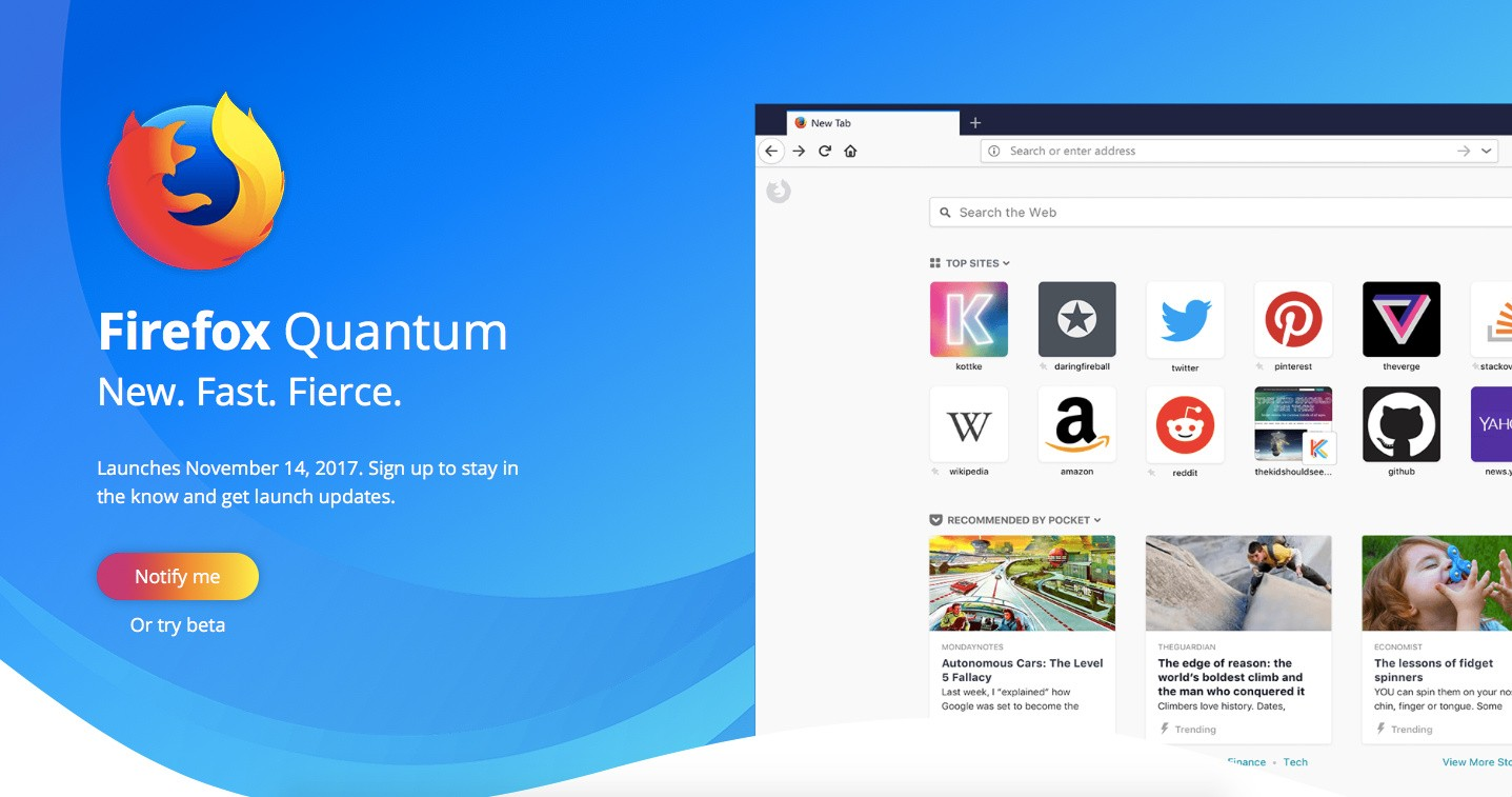 Firefox Quantum Next Generation Web Browser Launches November 14