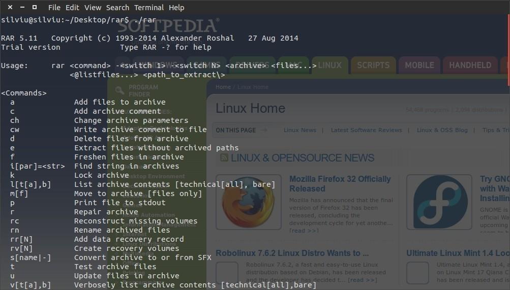 Peazip (linux x86) file archiver, winrar winzip replacement.
