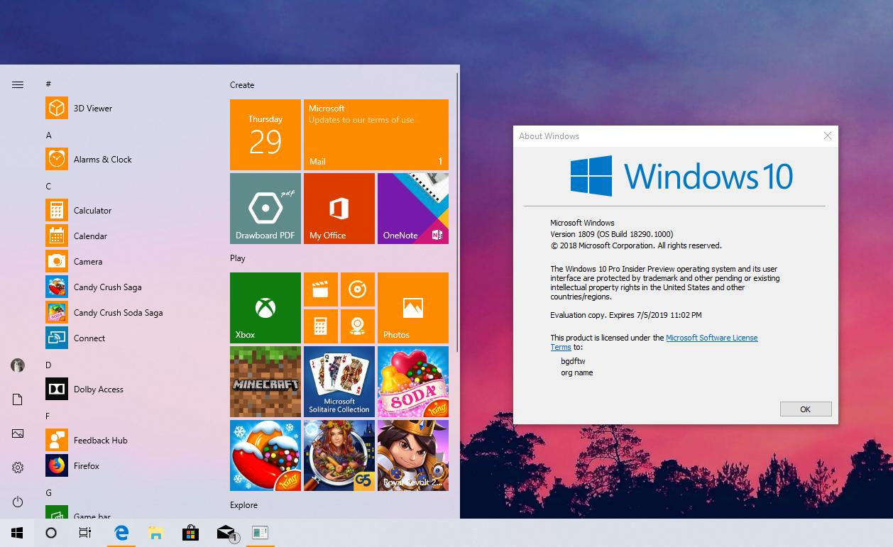 First Windows 10 19H1 Builds to Expire in Mid-December