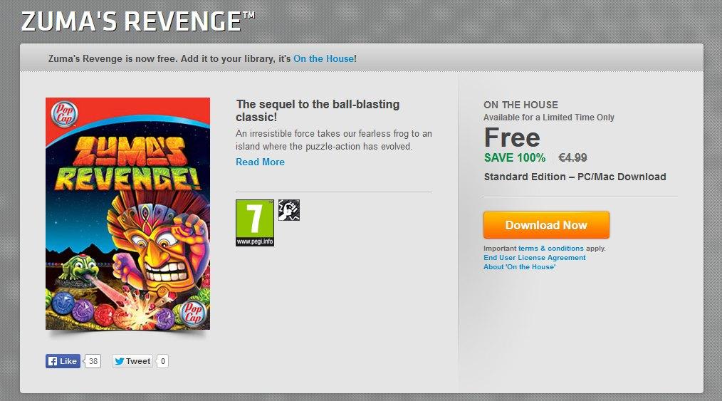 Free Zuma's Revenge Now Available on PC and Mac via Origin