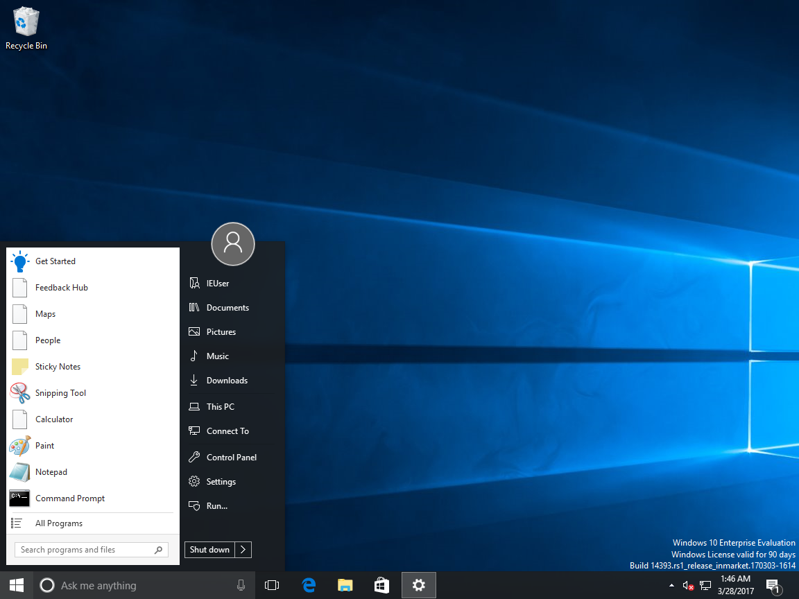 Get the Windows 7 Start Menu in Windows 10 Creators Update