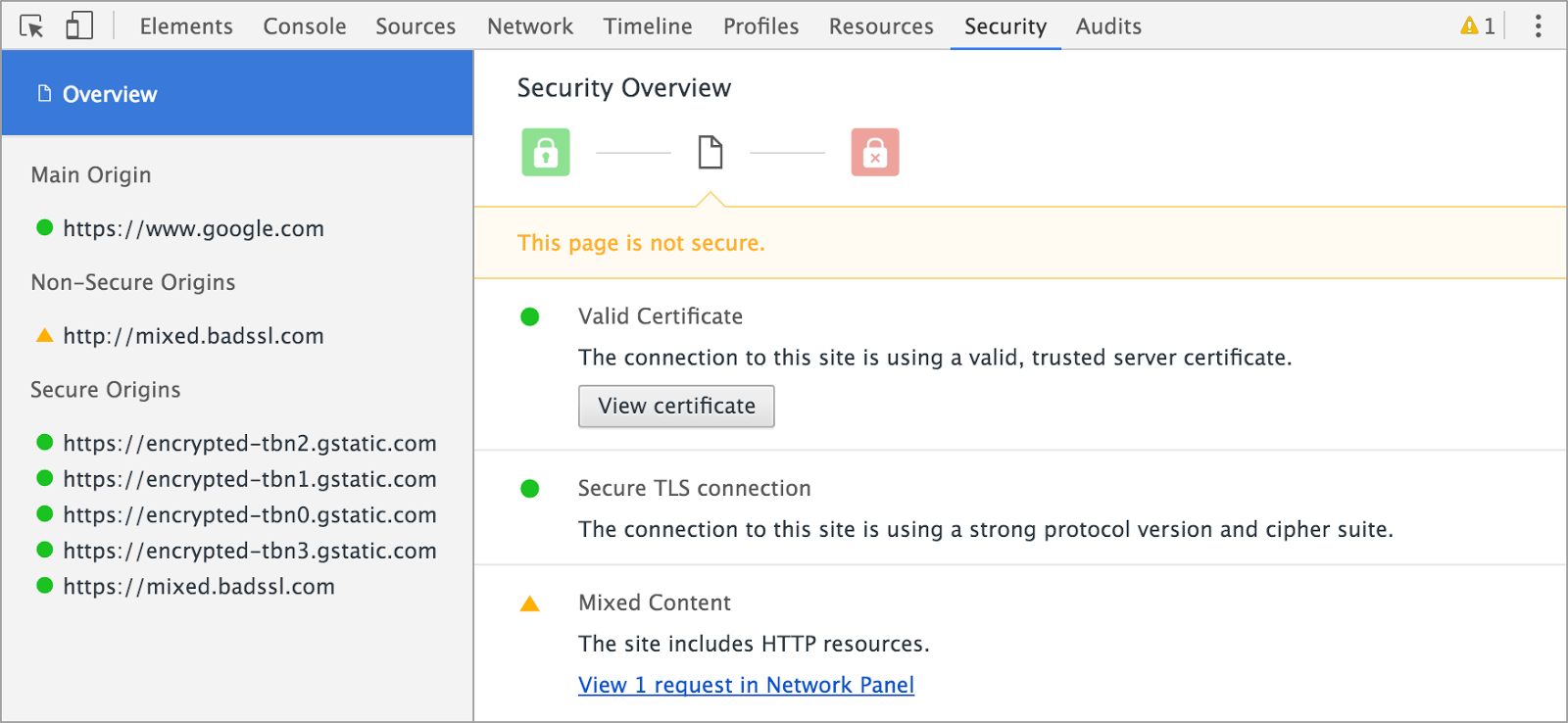 Google Chrome 48 Introduced New Security Panel for Reviewing
