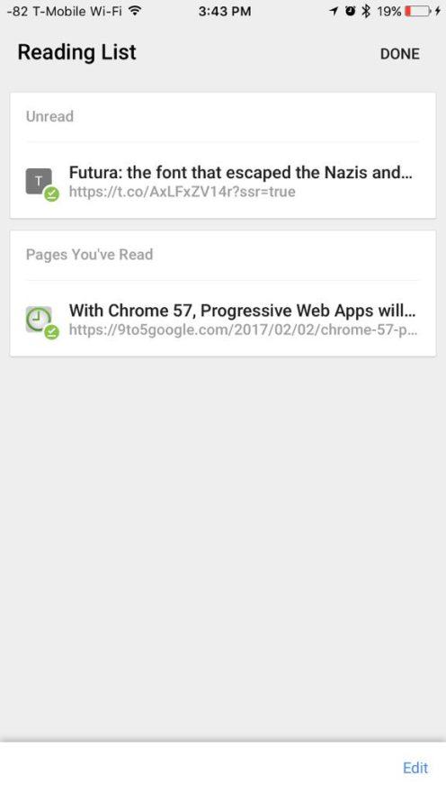 Google Chrome for iOS to Get Safari Reading List-like Feature