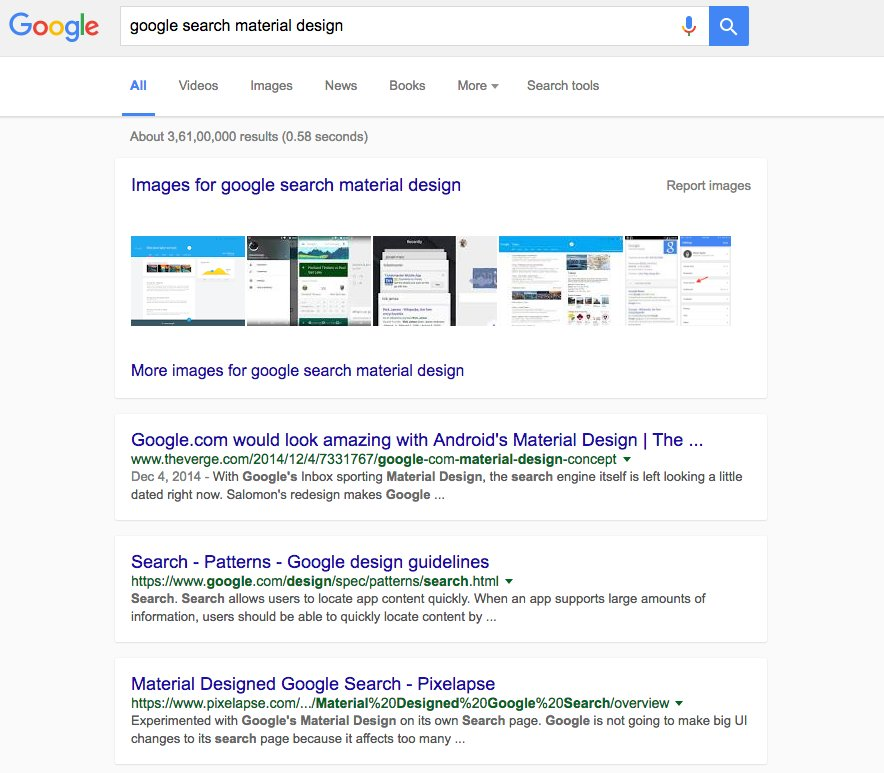 Desktop Google Users Might Get a Material Design Makeover