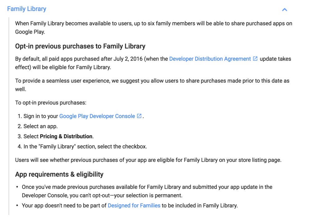 Google Announces Family Library for Play Store, Launching July 2