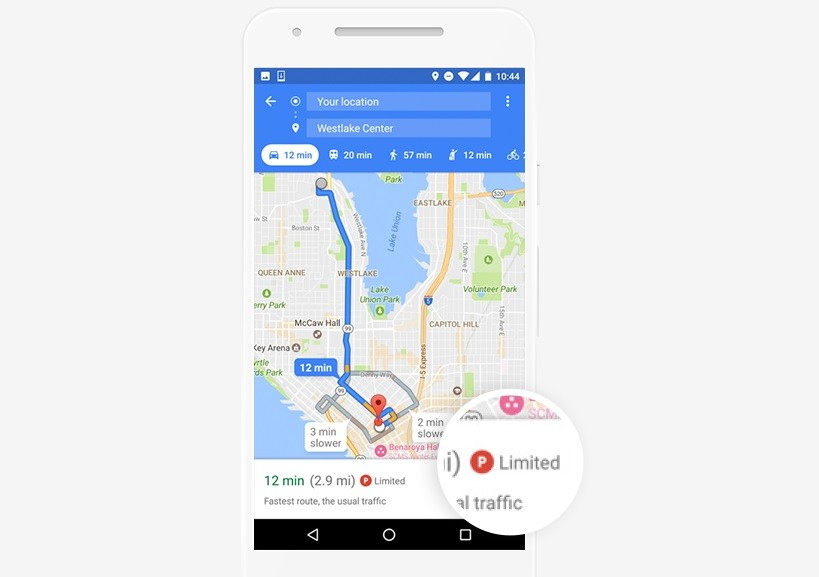 Google Maps: Here's How Likely You Are to Find Parking Space